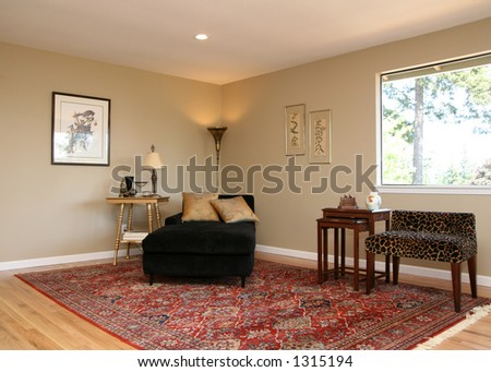 Staged dining room - stock photo