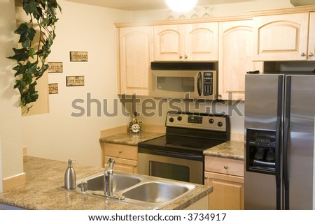 Staged kitchen - stock photo