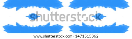 Stain seamless pattern. Seamless watercolor print. Bohemian fashion painting. Psychedelic colors wallpaper. Boho style geometric backdrop. Indigo, white, blue stain seamless pattern.