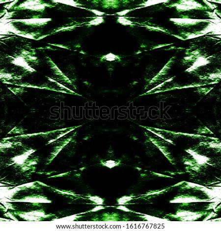 Stain Seamless Pattern. Seamless Watercolor Print. Craft Ethnic Adornment. Boho Abstract Painting. Green,Black,White Ethnic Shibori Backdrop. Blob Stain Seamless Pattern.