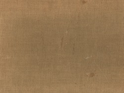 Stained, dirty, and distressed gold, brown and tan vintage book cover texture. Lighter spots of subtle fading from age.