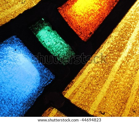 Stained glass abstract 3