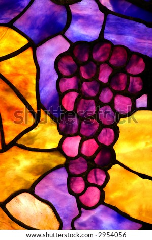 Stained Glass Grape Cluster