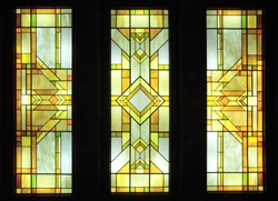 Stained-glass,Light source in a hall.