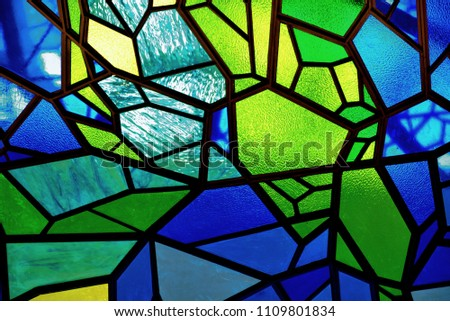 Stained glass mosaic background #1109801834