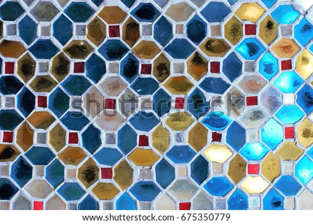 Stained glass multi-colored background texture #675350779