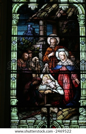 Stained Glass of the Birth of Christ