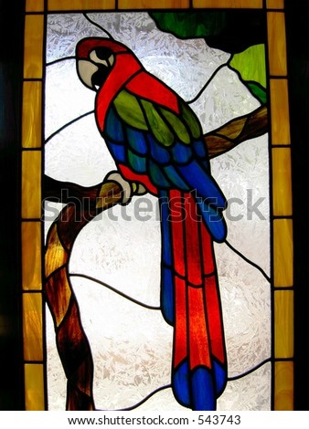 Stained glass patterns - stained glass parrot patterns 173