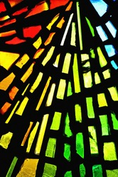 stained glass showing pattern and colors