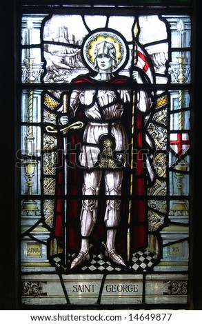 Stained Glass window depicting Saint George