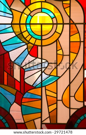 Stained Glass Window like background.
