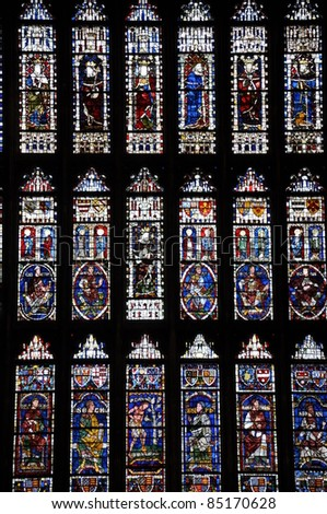 Stained Glass Windows at Canterbury Cathedral, England