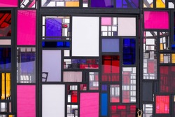 stained glass windows background texture colourful squares