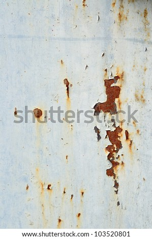 Stained metal surface