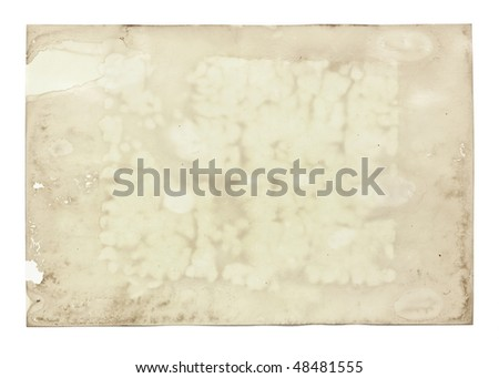 Stained old photo paper #48481555