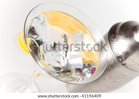 stainless azero shaker isolated over white background