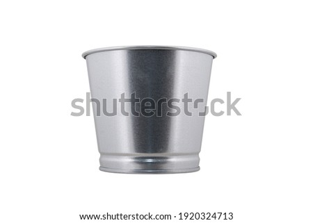 Stainless Steel Bucket - Gallon isolated on white background Foto stock ©