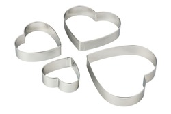 Stainless steel heart-shaped cookie cutters set, cut out