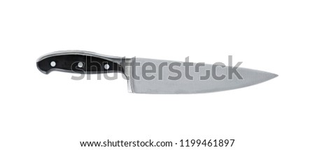Stainless Steel Kitchen knife, isolated on white