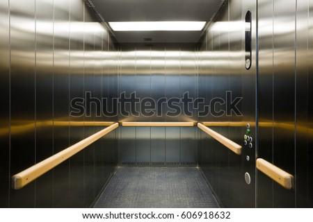 Stainless steel levator cabin interior