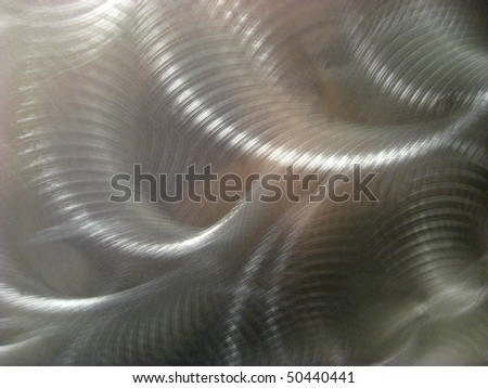 Stainless steel metal abstract