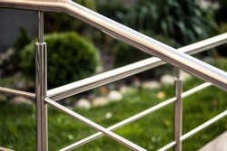 Stainless steel metal railings outdoor modern buildings