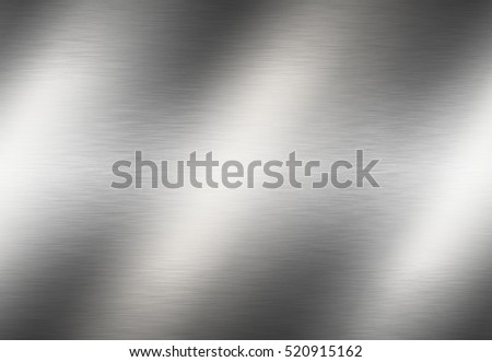 Stainless steel metal surface background or aluminum brushed silver metal texture with reflection.