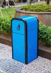 Stainless Steel Outdoor Plastic Wood Trash Bin Recycle