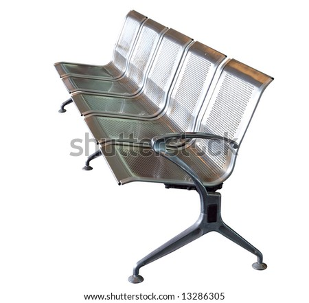 Stainless Steel Seats isolated with clipping path