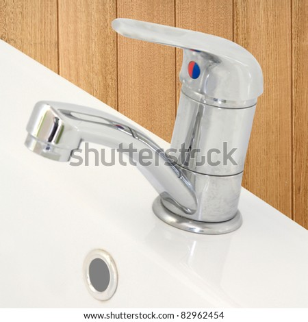 stainless steel tap and hand basin