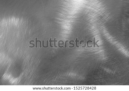 Stainless steel texture. Shiny surface of metal surface #1525728428