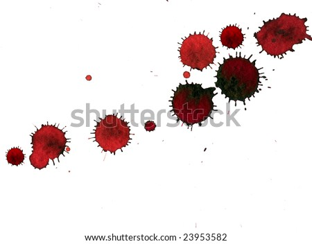 Stains of blood on white background