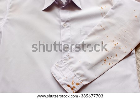 stains on shirts #385677703