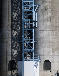 Stair Access Up Silo Towers