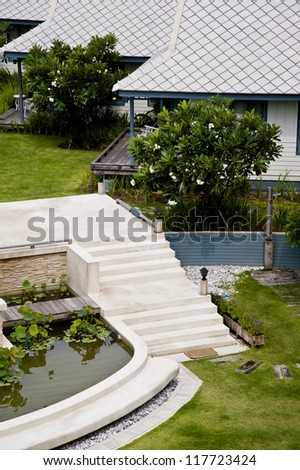 stair in garden
