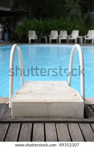 Stair in Swimming pool