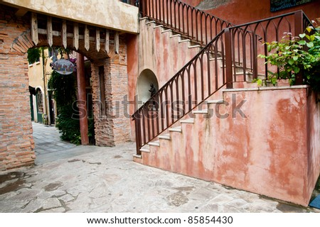 stair of house - stock photo