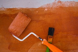 Stair painting DIY with rolling and brush home renovate
