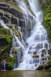 Stair step waterfall in North Carolina