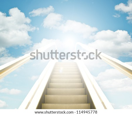 Stair way leading to the sky