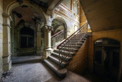 Staircase, Abandoned villa - Germany