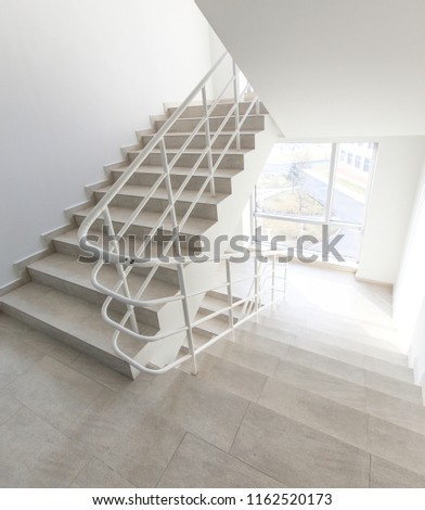 staircase - emergency exit in hotel, close-up staircase, interior staircases, interior staircases hotel, Staircase in modern house, staircase in modern building #1162520173