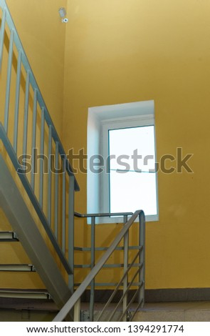 staircase - emergency exit in hotel, close-up staircase, interior staircases, interior staircases hotel, Staircase in modern house, staircase in modern building #1394291774