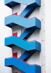 Staircase Fire escape Building Exterior Architecture details