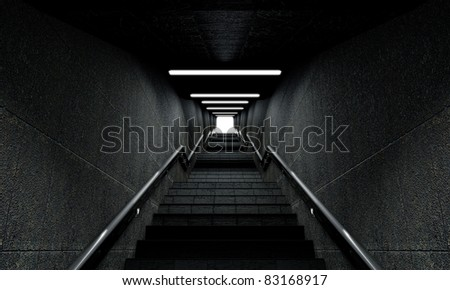 Staircase going up to the light