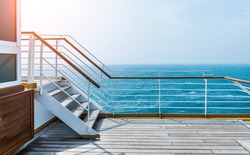 Staircase in a cruise ship.