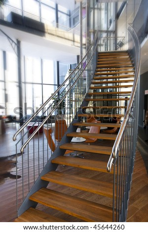 Staircase in the interior of a modern building