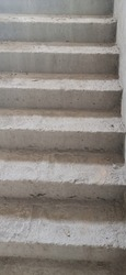 staircase Internal. Staircase without marble. Staircase In concrete Non Completed. Construction work New
