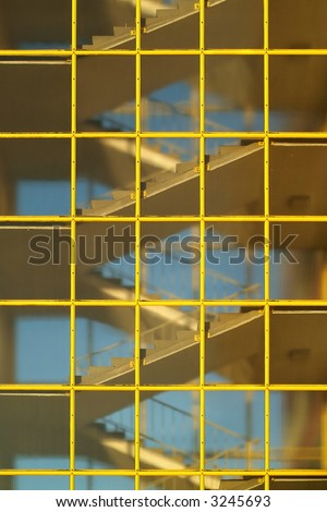 staircase of a modern apartment building