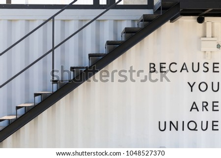 Staircase of container house #1048527370